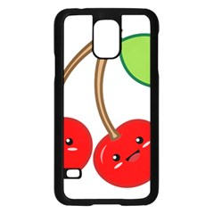 Kawaii Cherry Samsung Galaxy S5 Case (Black)