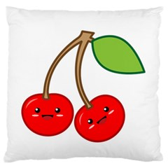 Kawaii Cherry Large Flano Cushion Cases (one Side)