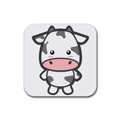 Kawaii Cow Rubber Coaster (Square)