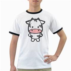 Kawaii Cow Ringer T Shirts
