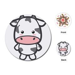 Kawaii Cow Playing Cards (Round)