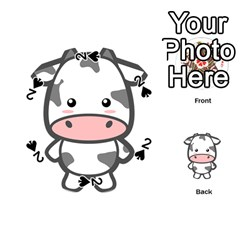 Kawaii Cow Playing Cards 54 (Round)