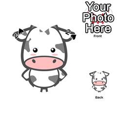 Kawaii Cow Playing Cards 54 (Heart)