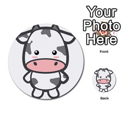 Kawaii Cow Multi-purpose Cards (Round)