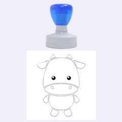 Kawaii Cow Rubber Round Stamps (large)