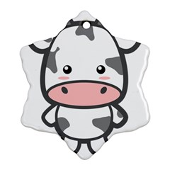 Kawaii Cow Snowflake Ornament (2-Side)