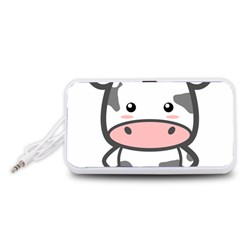 Kawaii Cow Portable Speaker (White)