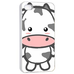 Kawaii Cow Apple iPhone 4/4s Seamless Case (White)
