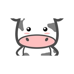Kawaii Cow You Are Invited 3d Greeting Card (8x4)