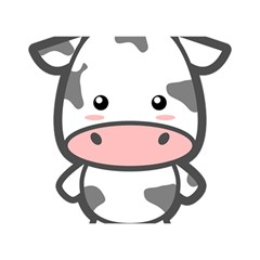 Kawaii Cow Birthday Cake 3d Greeting Card (7x5)