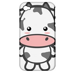 Kawaii Cow Apple iPhone 4/4S Hardshell Case (PC+Silicone)