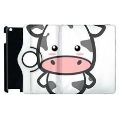 Kawaii Cow Apple iPad 2 Flip 360 Case