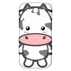 Kawaii Cow Samsung Galaxy S3 S III Classic Hardshell Back Case