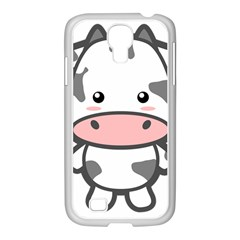 Kawaii Cow Samsung GALAXY S4 I9500/ I9505 Case (White)