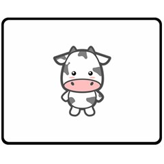 Kawaii Cow Double Sided Fleece Blanket (Medium)
