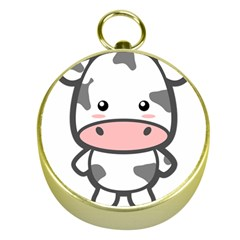Kawaii Cow Gold Compasses
