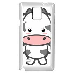 Kawaii Cow Samsung Galaxy Note 4 Case (White)