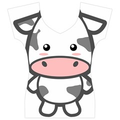 Kawaii Cow Women s V-Neck Cap Sleeve Top