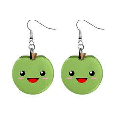 Kawaii Green Apple Mini Button Earrings