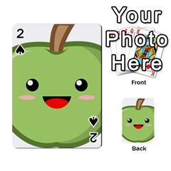 Kawaii Green Apple Playing Cards 54 Designs