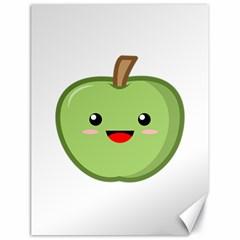 Kawaii Green Apple Canvas 18  x 24