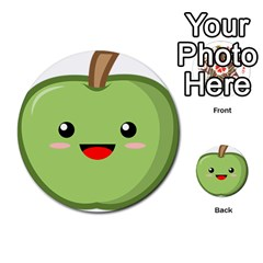 Kawaii Green Apple Multi-purpose Cards (Round)