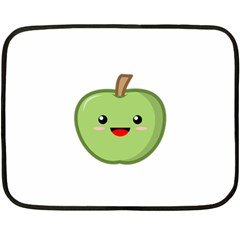 Kawaii Green Apple Fleece Blanket (Mini)