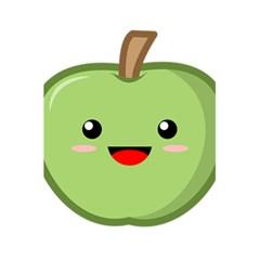 Kawaii Green Apple 5.5  x 8.5  Notebooks