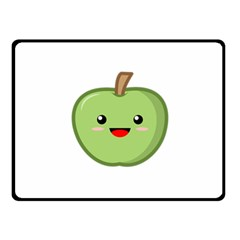 Kawaii Green Apple Fleece Blanket (small)