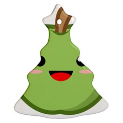 Kawaii Green Apple Ornament (Christmas Tree)