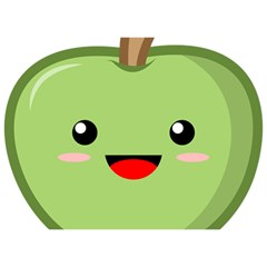 Kawaii Green Apple Birthday Cake 3d Greeting Card (7x5)