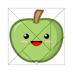 Kawaii Green Apple Acrylic Tangram Puzzle (6  x 6 )