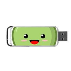 Kawaii Green Apple Portable USB Flash (Two Sides)