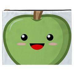 Kawaii Green Apple Cosmetic Bag (XXXL)