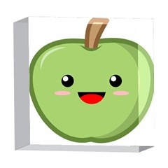 Kawaii Green Apple 5  x 5  Acrylic Photo Blocks