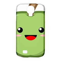 Kawaii Green Apple Samsung Galaxy S4 Classic Hardshell Case (PC+Silicone)