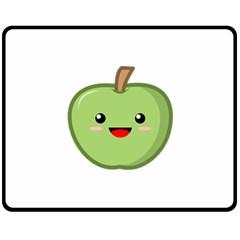 Kawaii Green Apple Double Sided Fleece Blanket (Medium)