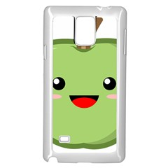 Kawaii Green Apple Samsung Galaxy Note 4 Case (white)