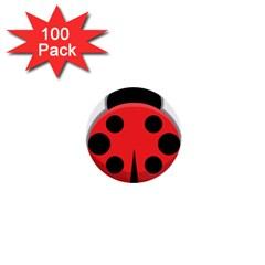 Kawaii Ladybug 1  Mini Buttons (100 pack)