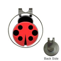 Kawaii Ladybug Hat Clips with Golf Markers
