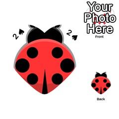 Kawaii Ladybug Playing Cards 54 (heart)