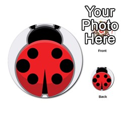 Kawaii Ladybug Multi Purpose Cards (round)