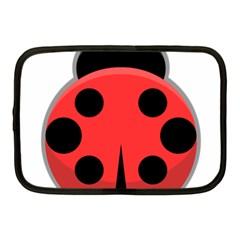 Kawaii Ladybug Netbook Case (Medium)
