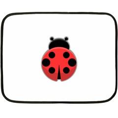 Kawaii Ladybug Fleece Blanket (Mini)