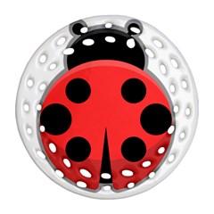 Kawaii Ladybug Ornament (Round Filigree)