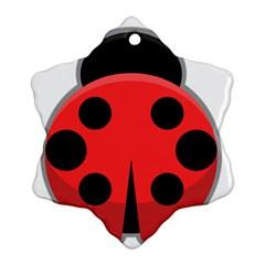 Kawaii Ladybug Snowflake Ornament (2-Side)