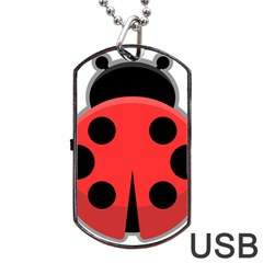 Kawaii Ladybug Dog Tag Usb Flash (one Side)