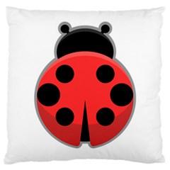 Kawaii Ladybug Large Cushion Cases (Two Sides)