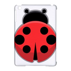 Kawaii Ladybug Apple Ipad Mini Hardshell Case (compatible With Smart Cover)