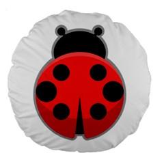 Kawaii Ladybug Large 18  Premium Round Cushions
